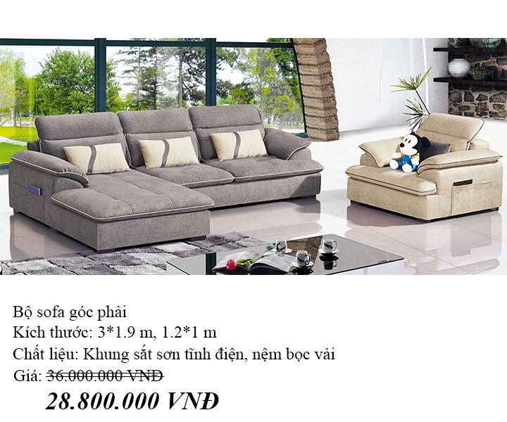 Ghế sofa góc Hofaco HFC-GSF8058-30 (Ảnh 3)