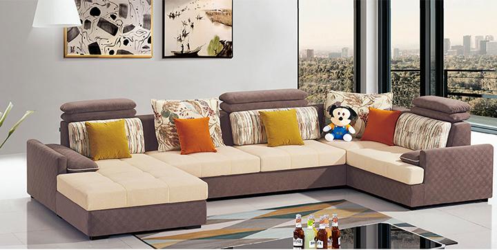 Sofa chữ U cho phòng khách lớn Hofaco HFC-GSF8509-42 (Ảnh 1)