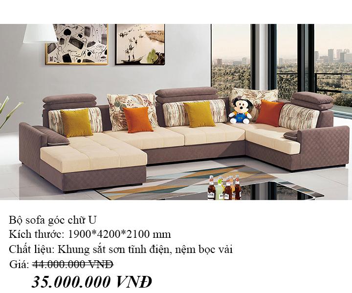Sofa chữ U cho phòng khách lớn Hofaco HFC-GSF8509-42 (Ảnh 3)
