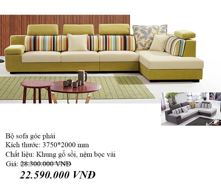 Ghế sofa góc vải nỉ Hofaco HFC-GSF8838-38 (Ảnh 3)