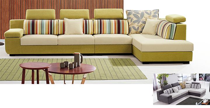 Ghế sofa góc vải nỉ Hofaco HFC-GSF8838-38 (Ảnh 1)
