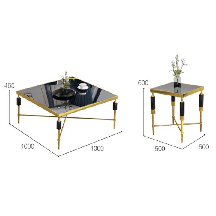 Bàn sofa khung inox 304 mạ titan gold HFC-BSF142-10 (Ảnh 3)